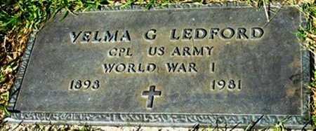 LEDFORD, VELMA G (VETERAN WW I) - Jackson County, Louisiana | VELMA G (VETERAN WW I) LEDFORD - Louisiana Gravestone Photos
