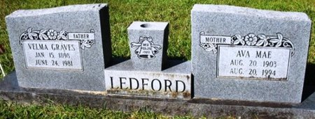 LEDFORD, VELMA GRAVES - Jackson County, Louisiana | VELMA GRAVES LEDFORD - Louisiana Gravestone Photos