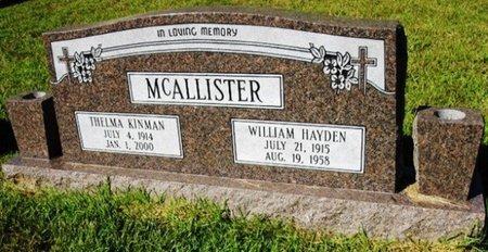 KINMAN MCALLISTER, THELMA - Jackson County, Louisiana | THELMA KINMAN MCALLISTER - Louisiana Gravestone Photos