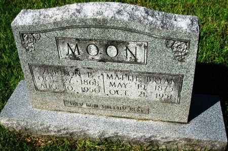 BRYAN MOON, MATTIE - Jackson County, Louisiana | MATTIE BRYAN MOON - Louisiana Gravestone Photos