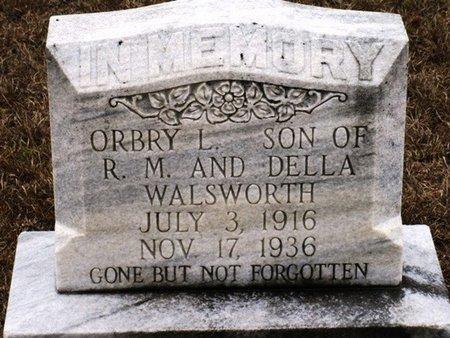 WALSWORTH, ORBRY L - Jackson County, Louisiana | ORBRY L WALSWORTH - Louisiana Gravestone Photos