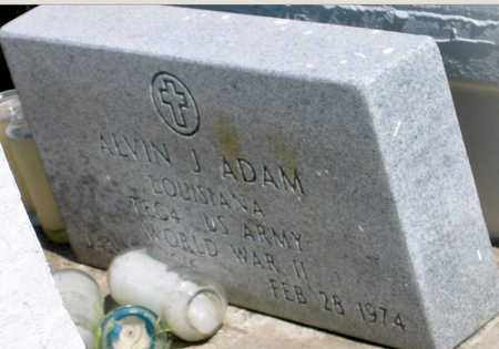 ADAM, ALVIN J (VETERAN WWII) - Jefferson County, Louisiana | ALVIN J (VETERAN WWII) ADAM - Louisiana Gravestone Photos