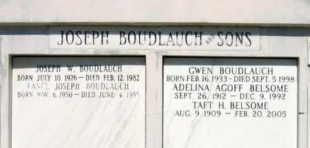 BOUDLAUCH, GWEN - Jefferson County, Louisiana | GWEN BOUDLAUCH - Louisiana Gravestone Photos