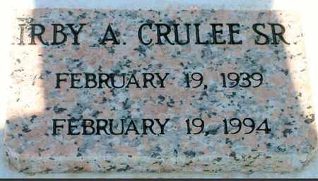 CRULEE, IRBY A, SR - Jefferson County, Louisiana | IRBY A, SR CRULEE - Louisiana Gravestone Photos