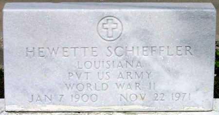 SCHIEFFLER, HEWETTE (VETERAN WWII) - Jefferson County, Louisiana | HEWETTE (VETERAN WWII) SCHIEFFLER - Louisiana Gravestone Photos