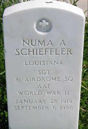 SCHIEFFLER, NUMA A  (VETERAN WWII) - Jefferson County, Louisiana | NUMA A  (VETERAN WWII) SCHIEFFLER - Louisiana Gravestone Photos