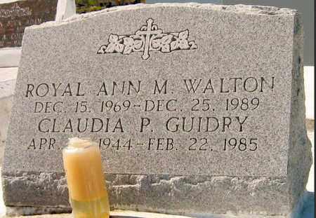 WALTON, ROYAL ANN M - Jefferson County, Louisiana | ROYAL ANN M WALTON - Louisiana Gravestone Photos