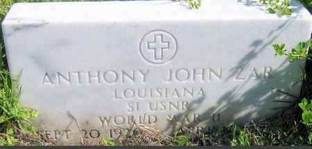 ZAR, ANTHONY JOHN (VETERAN WWII) - Jefferson County, Louisiana | ANTHONY JOHN (VETERAN WWII) ZAR - Louisiana Gravestone Photos