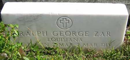 ZAR, RALPH GEORGE  (VETERAN KOR) - Jefferson County, Louisiana | RALPH GEORGE  (VETERAN KOR) ZAR - Louisiana Gravestone Photos