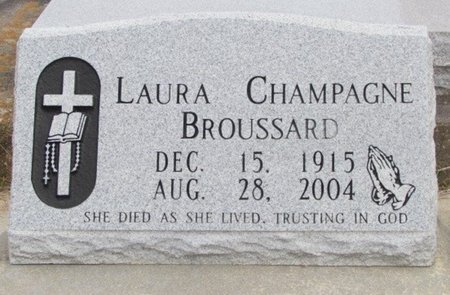 BROUSSARD, LAURA - Jefferson Davis County, Louisiana | LAURA BROUSSARD - Louisiana Gravestone Photos
