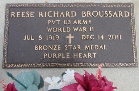 BROUSSARD, REESE RICHARD  (VETERAN WWII) - Jefferson Davis County, Louisiana | REESE RICHARD  (VETERAN WWII) BROUSSARD - Louisiana Gravestone Photos