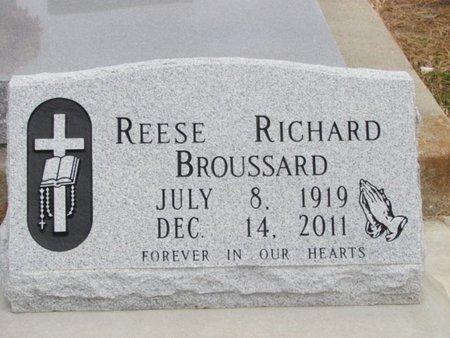 BROUSSARD, REESE RICHARD - Jefferson Davis County, Louisiana   REESE RICHARD BROUSSARD - Louisiana Gravestone Photos