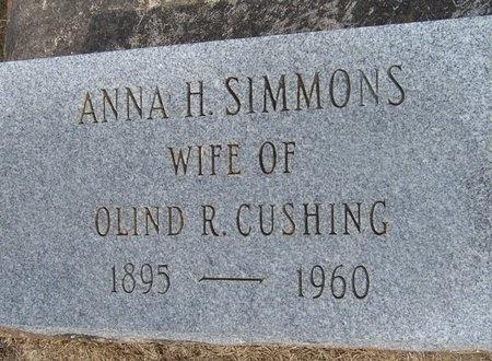 SIMMONS CUSHING, ANNA H - Jefferson Davis County, Louisiana | ANNA H SIMMONS CUSHING - Louisiana Gravestone Photos