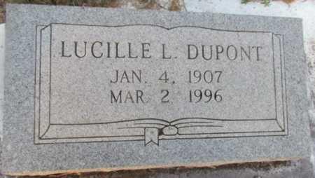 DUPONT, LUCILLE L - Jefferson Davis County, Louisiana   LUCILLE L DUPONT - Louisiana Gravestone Photos