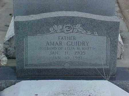 GUIDRY, AMAR - Jefferson Davis County, Louisiana | AMAR GUIDRY - Louisiana Gravestone Photos