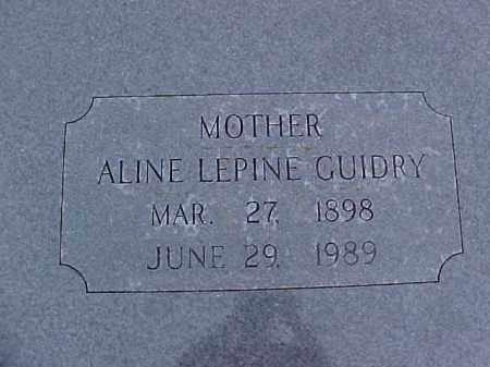 GUIDRY, ALINE - Jefferson Davis County, Louisiana | ALINE GUIDRY - Louisiana Gravestone Photos