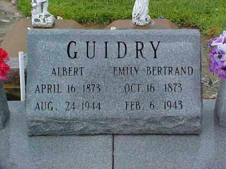 GUIDRY, EMILY - Jefferson Davis County, Louisiana | EMILY GUIDRY - Louisiana Gravestone Photos