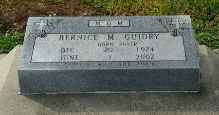 GUIDRY, BERNICE M - Jefferson Davis County, Louisiana | BERNICE M GUIDRY - Louisiana Gravestone Photos