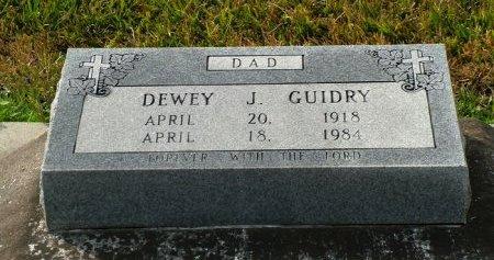 GUIDRY, DEWEY J - Jefferson Davis County, Louisiana | DEWEY J GUIDRY - Louisiana Gravestone Photos