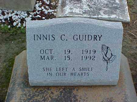 GUIDRY, INNIS - Jefferson Davis County, Louisiana | INNIS GUIDRY - Louisiana Gravestone Photos
