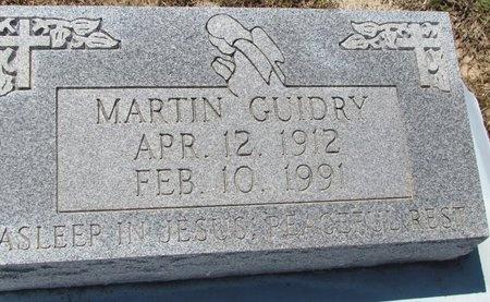 GUIDRY, MARTIN - Jefferson Davis County, Louisiana | MARTIN GUIDRY - Louisiana Gravestone Photos