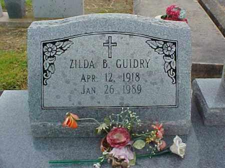 GUIDRY, ZILDA - Jefferson Davis County, Louisiana   ZILDA GUIDRY - Louisiana Gravestone Photos