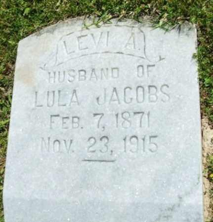 JACOBS, LEVI A - Jefferson Davis County, Louisiana | LEVI A JACOBS - Louisiana Gravestone Photos