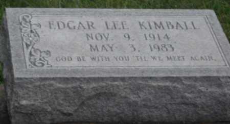 KIMBALL, EDGAR LEE - Jefferson Davis County, Louisiana   EDGAR LEE KIMBALL - Louisiana Gravestone Photos