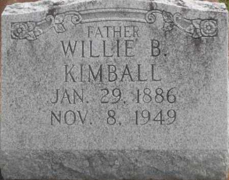 KIMBALL, WILLIE B - Jefferson Davis County, Louisiana   WILLIE B KIMBALL - Louisiana Gravestone Photos