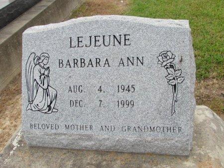 LEJEUNE, BARBARA ANN - Jefferson Davis County, Louisiana | BARBARA ANN LEJEUNE - Louisiana Gravestone Photos