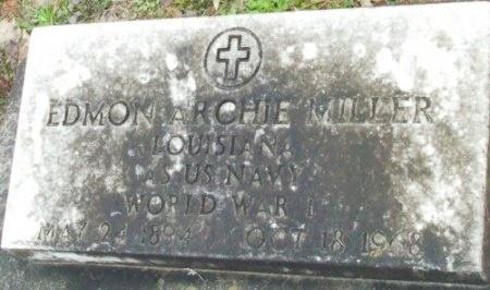 MILLER  , EDMON ARCHIE  (VETERAN WWI) - Jefferson Davis County, Louisiana   EDMON ARCHIE  (VETERAN WWI) MILLER   - Louisiana Gravestone Photos