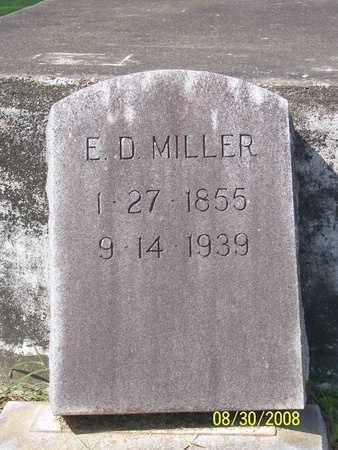 MILLER, E D - Jefferson Davis County, Louisiana   E D MILLER - Louisiana Gravestone Photos