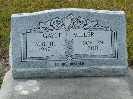 MILLER, GAYLE FRANCIS - Jefferson Davis County, Louisiana | GAYLE FRANCIS MILLER - Louisiana Gravestone Photos