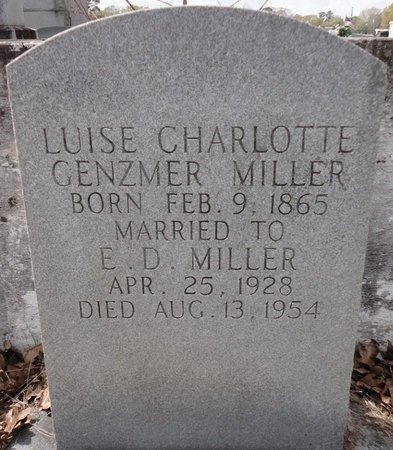 MILLER, LUISE CHARLOTTE - Jefferson Davis County, Louisiana | LUISE CHARLOTTE MILLER - Louisiana Gravestone Photos