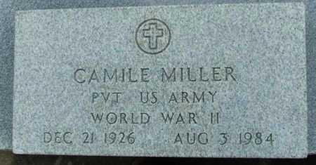 MILLER, CAMILE (VETERAN WWII) - Jefferson Davis County, Louisiana   CAMILE (VETERAN WWII) MILLER - Louisiana Gravestone Photos