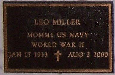 MILLER, LEO (VETERAN WWII - Jefferson Davis County, Louisiana | LEO (VETERAN WWII MILLER - Louisiana Gravestone Photos