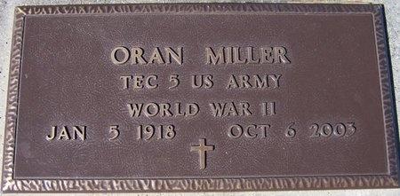 MILLER, ORAN  (VETERAN WWII) - Jefferson Davis County, Louisiana   ORAN  (VETERAN WWII) MILLER - Louisiana Gravestone Photos