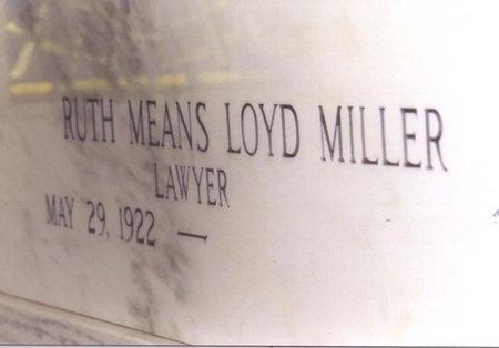 MILLER, RUTH MEANS - Jefferson Davis County, Louisiana   RUTH MEANS MILLER - Louisiana Gravestone Photos