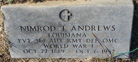 ANDREWS, NIMROD T (VETERAN WWI) - La Salle County, Louisiana   NIMROD T (VETERAN WWI) ANDREWS - Louisiana Gravestone Photos