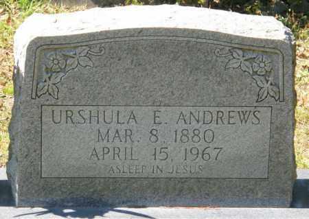 ANDREWS, URSHULA E - La Salle County, Louisiana | URSHULA E ANDREWS - Louisiana Gravestone Photos