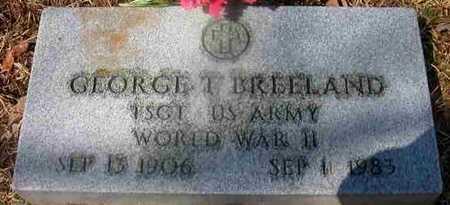 BREELAND, GEORGE T (VETERAN WWII) - La Salle County, Louisiana | GEORGE T (VETERAN WWII) BREELAND - Louisiana Gravestone Photos