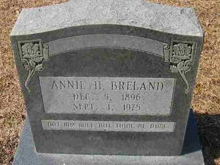 BRELAND, ANNIE H - La Salle County, Louisiana | ANNIE H BRELAND - Louisiana Gravestone Photos
