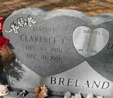 BRELAND, CLARENCE C (CLOSEUP) - La Salle County, Louisiana | CLARENCE C (CLOSEUP) BRELAND - Louisiana Gravestone Photos