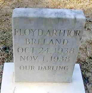 BRELAND, FLOYD ARTHOR - La Salle County, Louisiana | FLOYD ARTHOR BRELAND - Louisiana Gravestone Photos