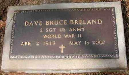 BRELAND, DAVE BRUCE (VETERAN WWII) - La Salle County, Louisiana | DAVE BRUCE (VETERAN WWII) BRELAND - Louisiana Gravestone Photos