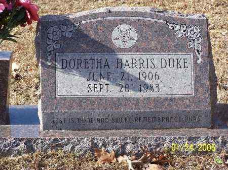 DUKE, DORETHA - La Salle County, Louisiana   DORETHA DUKE - Louisiana Gravestone Photos