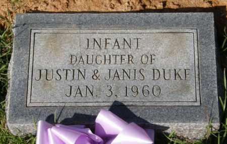 DUKE, INFANT DAUGHTER - La Salle County, Louisiana   INFANT DAUGHTER DUKE - Louisiana Gravestone Photos