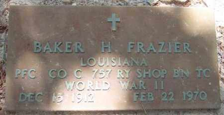 FRAZIER, BAKER H  (VETERAN WWII) - La Salle County, Louisiana | BAKER H  (VETERAN WWII) FRAZIER - Louisiana Gravestone Photos