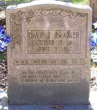 FRAZIER, DAVE J (VETERAN WWII) - La Salle County, Louisiana   DAVE J (VETERAN WWII) FRAZIER - Louisiana Gravestone Photos