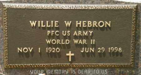HEBRON, WILLIE W (VETERAN WWII) - La Salle County, Louisiana | WILLIE W (VETERAN WWII) HEBRON - Louisiana Gravestone Photos